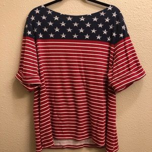 Karen Scott Woman American Flag T 3X